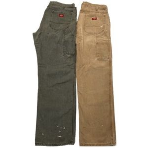 2 Dickies Carpenter 36X34 Relaxed Fit Canvas Jeans